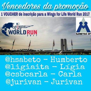 Resultado Sorteio Wings for Life World Run 2017