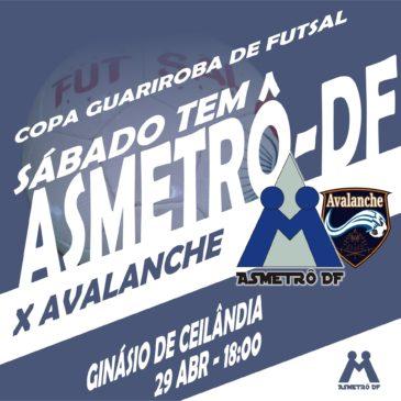 Copa Guariroba: Asmetrô x Avalanche neste sábado (29/04)