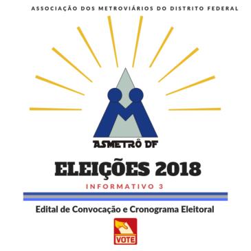Eleições 2018 – Edital de Convocação e Cronograma Eleitoral