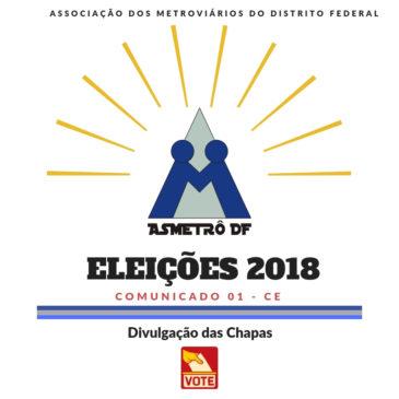 Eleições 2018 – Divulgação de Inscrições de Chapas e Conselho Fiscal