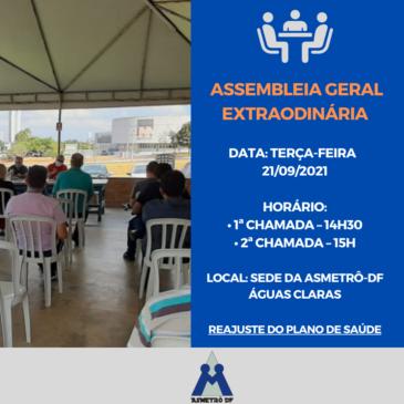 Assembleia Geral Extraordinária – Plano de Saúde AMIL (Reajuste e Cláusulas Contratuais)