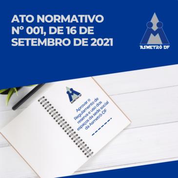 Ato Normativo nº. 001, de 16 de setembro de 2021